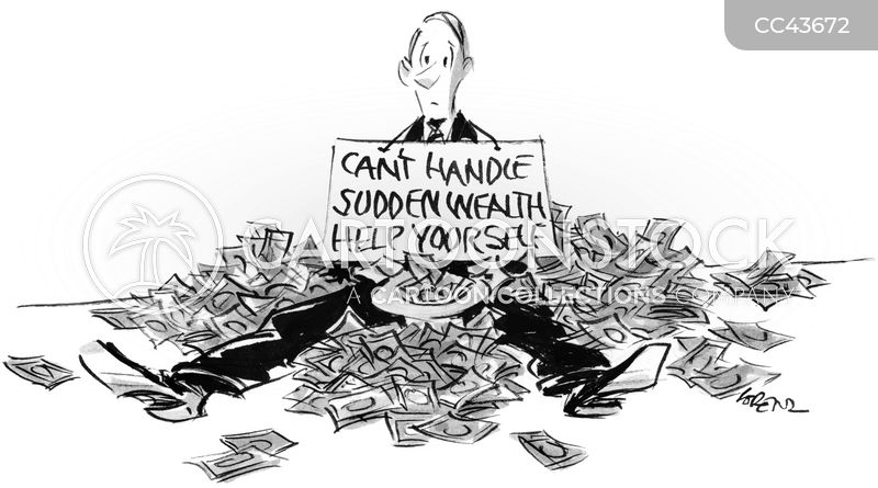 sudden wealth cartoon