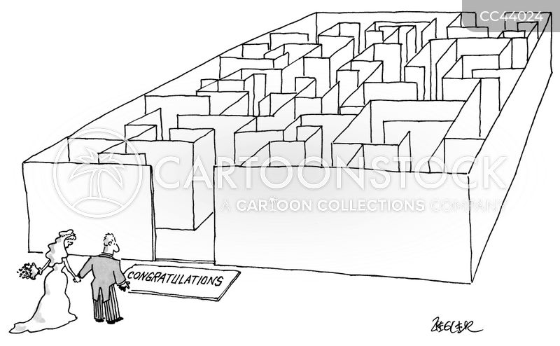 marital maze cartoon