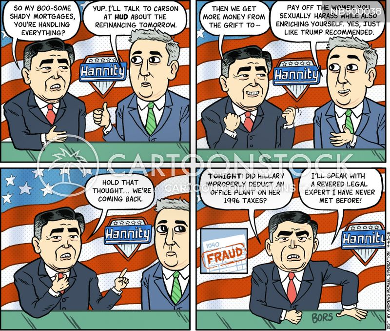 right wing news commentators cartoon