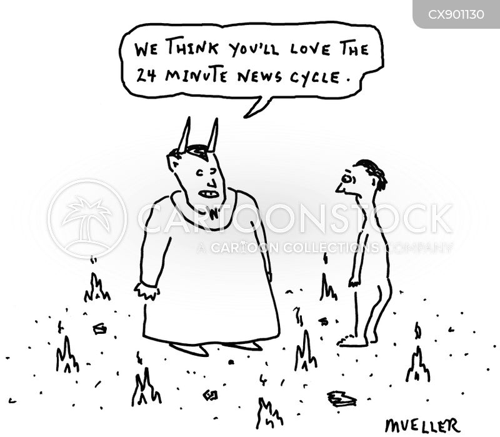 news cycles cartoon