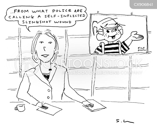 news reporters cartoon