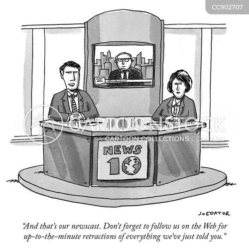 newscast cartoon