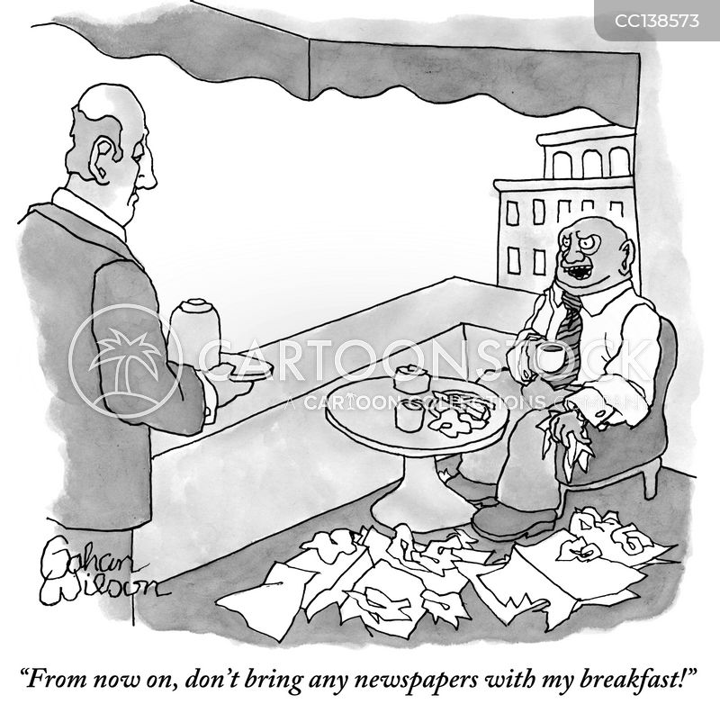 Print Media cartoon