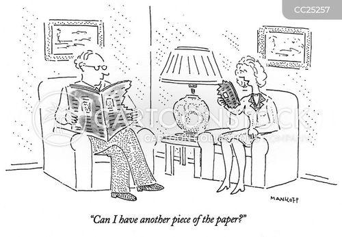 torn up newspaper cartoon