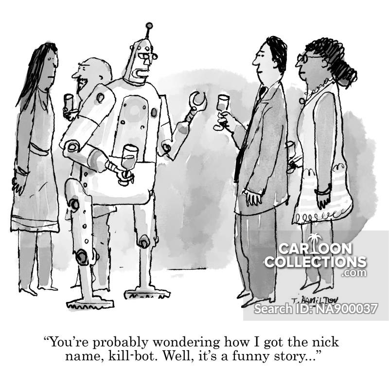 Killer Robots cartoon