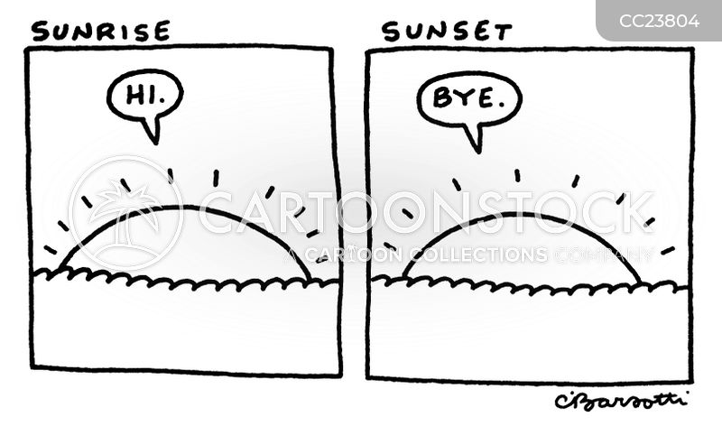sunsets cartoon