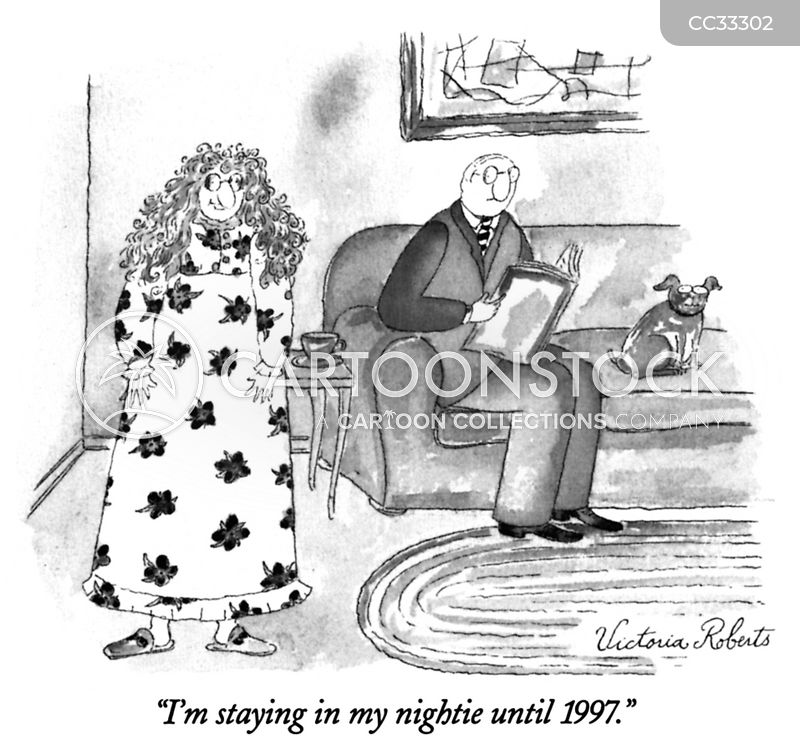 Night-dress cartoon