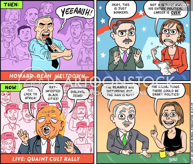 racist comments cartoon