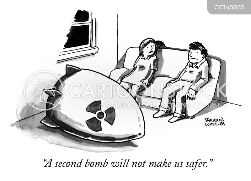 atomic bombs cartoon