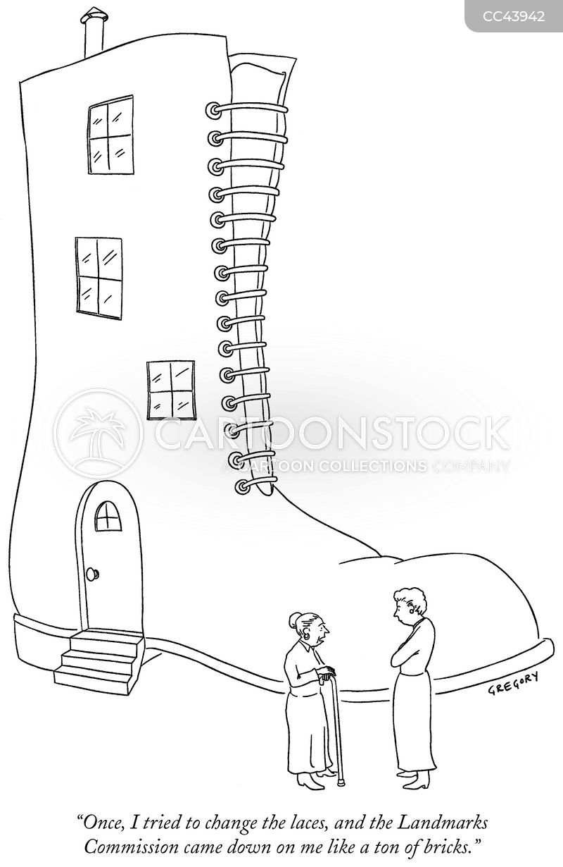 shoelace cartoon