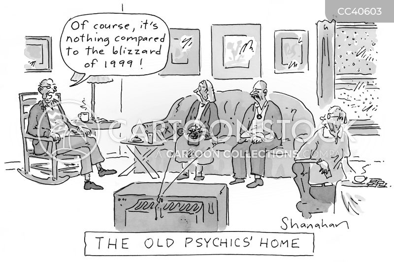 psychic cartoon