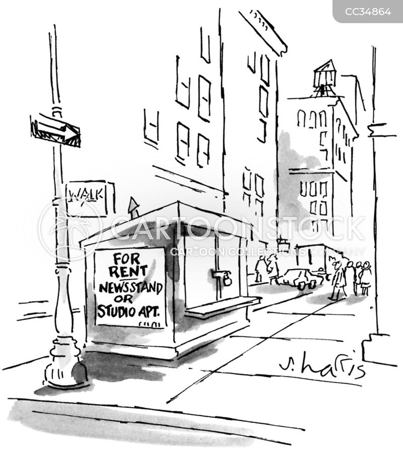 studio apartment cartoon
