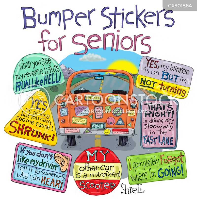 bumper stickers cartoon
