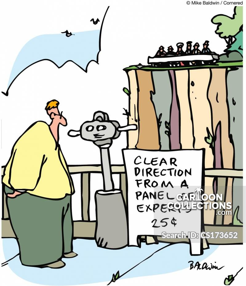 observation binoculars cartoon