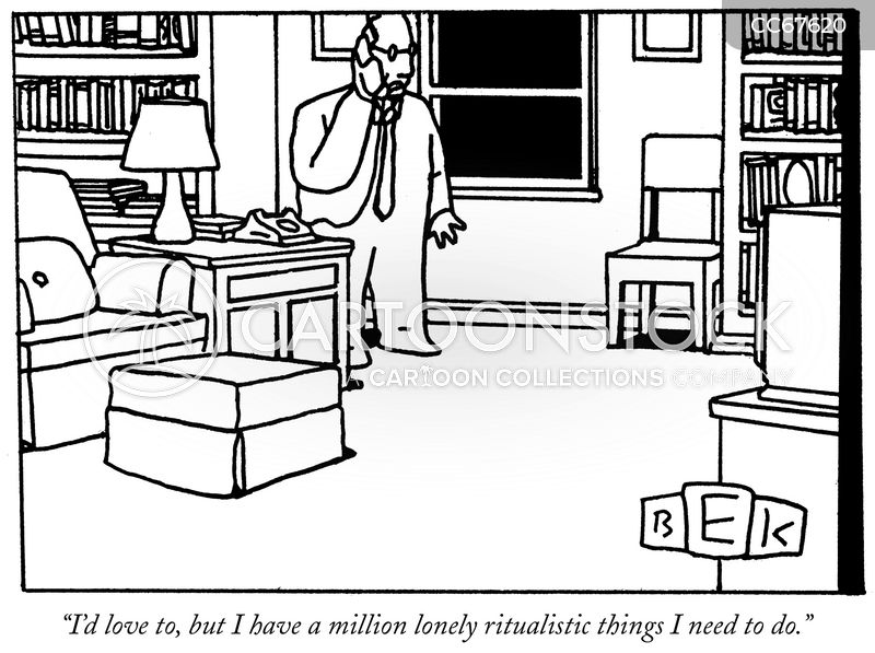 obsessive compulsives cartoon