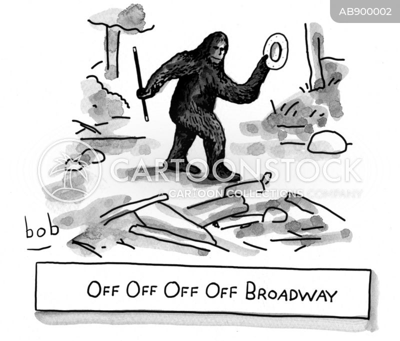 off broadway cartoon