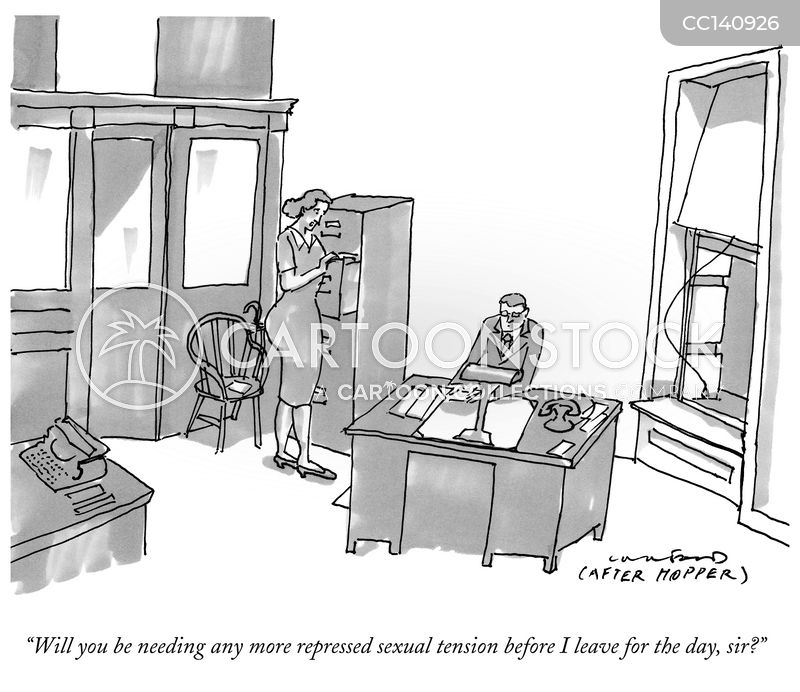 sexual tension cartoon