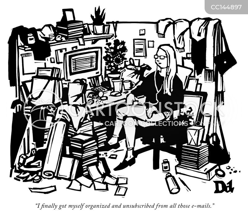 disorganized cartoon