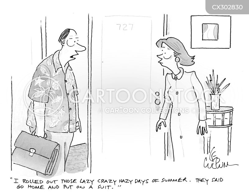 business dress cartoon