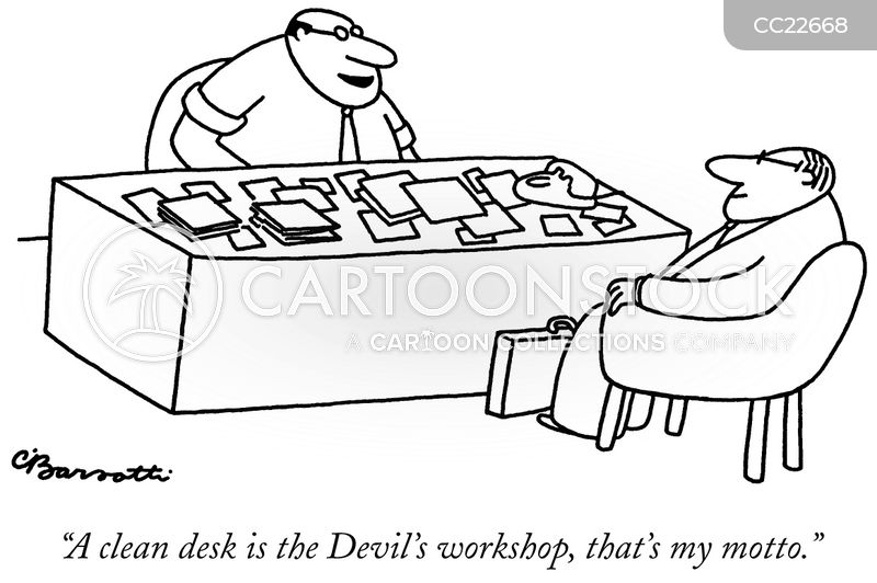 desk cartoon