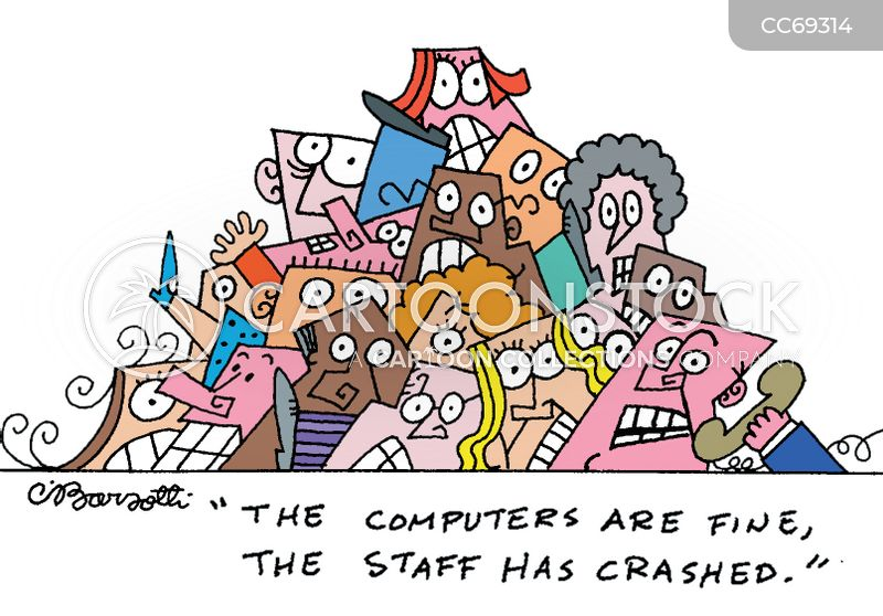 modern technologies cartoon