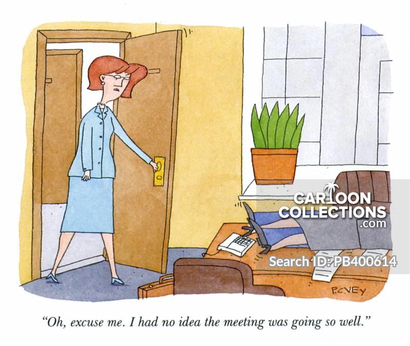 office romances cartoon