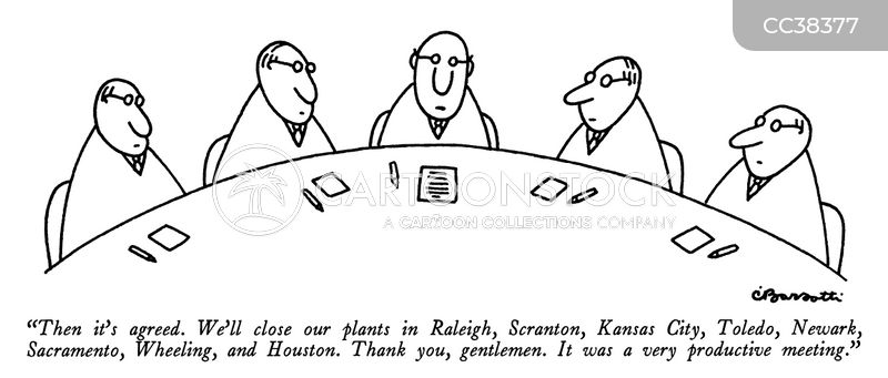 out of business cartoon