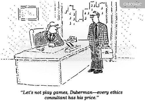 integrity cartoon