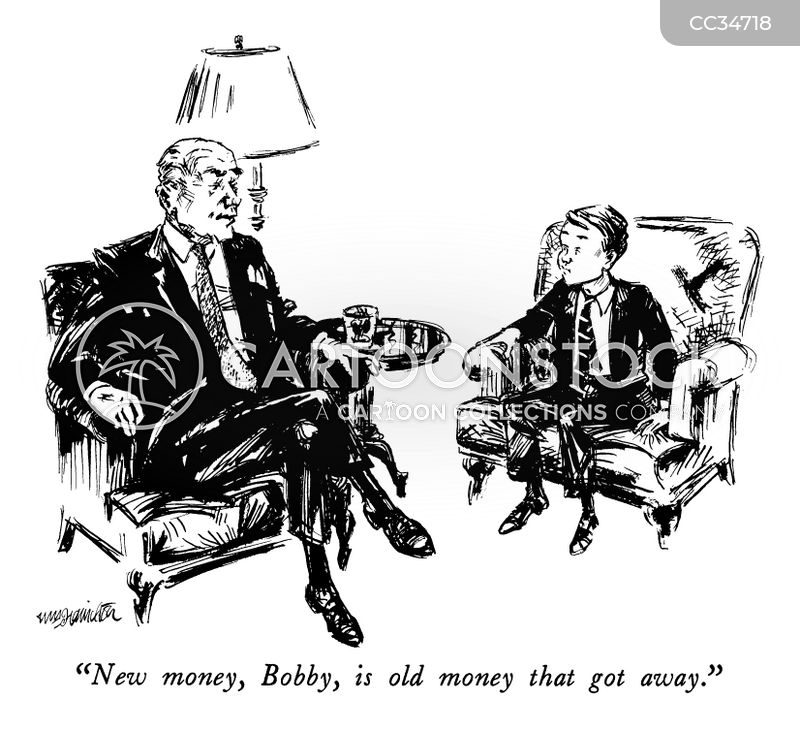 old money cartoon