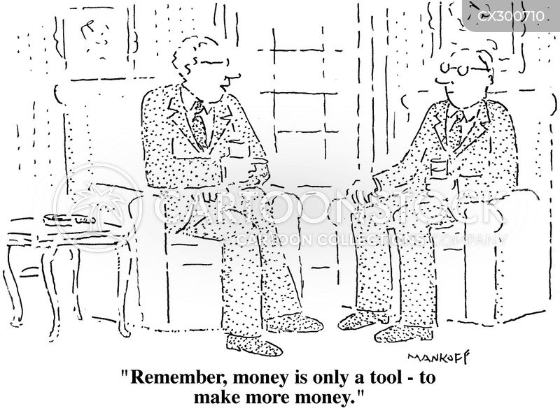 spend money to make money cartoon