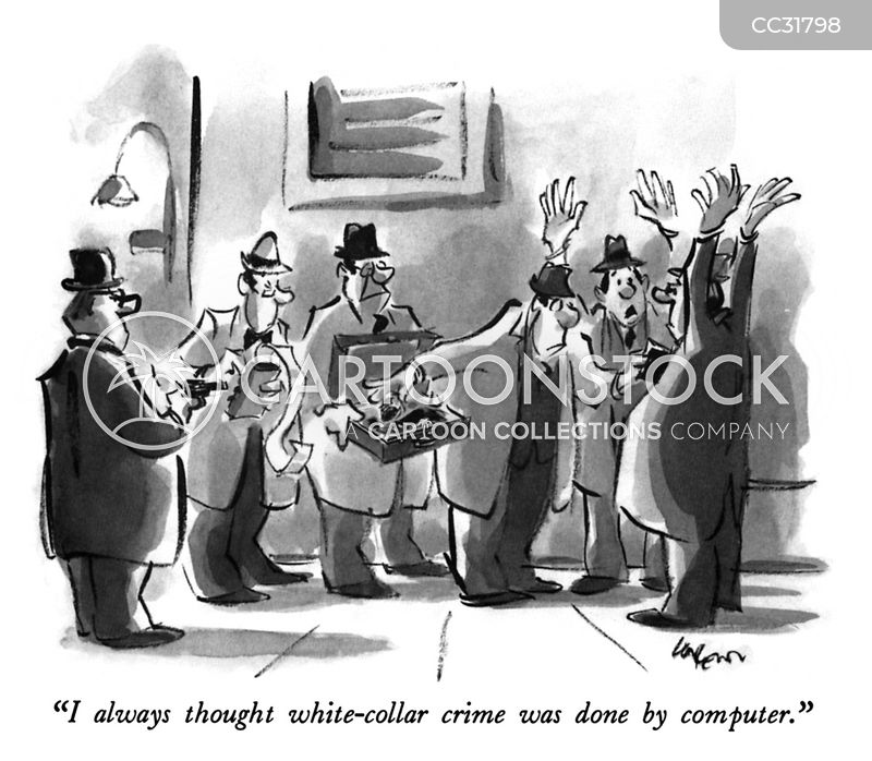 white collar crimes cartoon