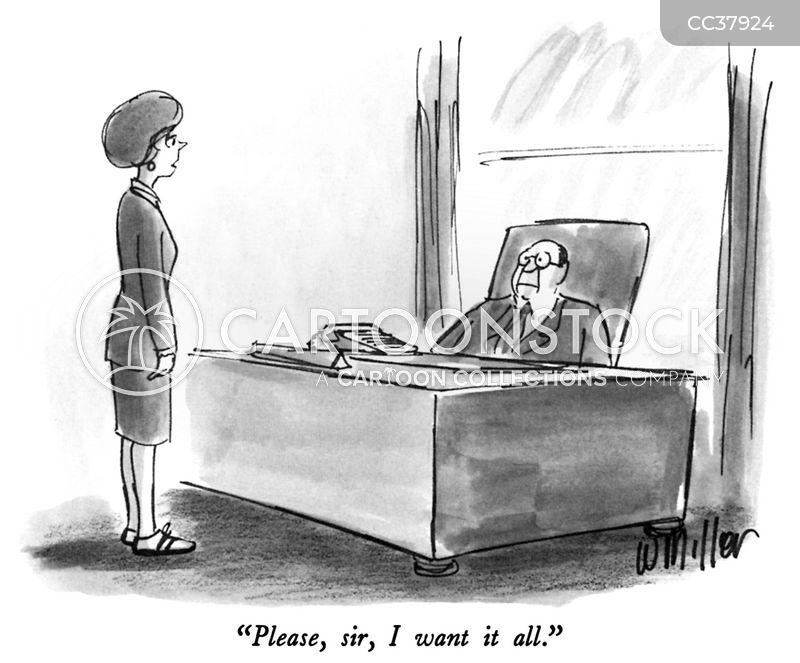 office lady cartoon