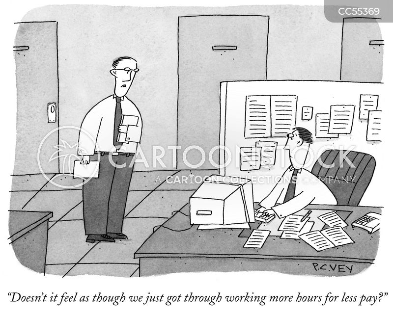 work hours cartoon