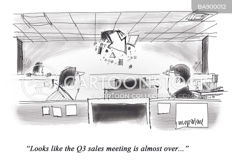 sales target cartoon