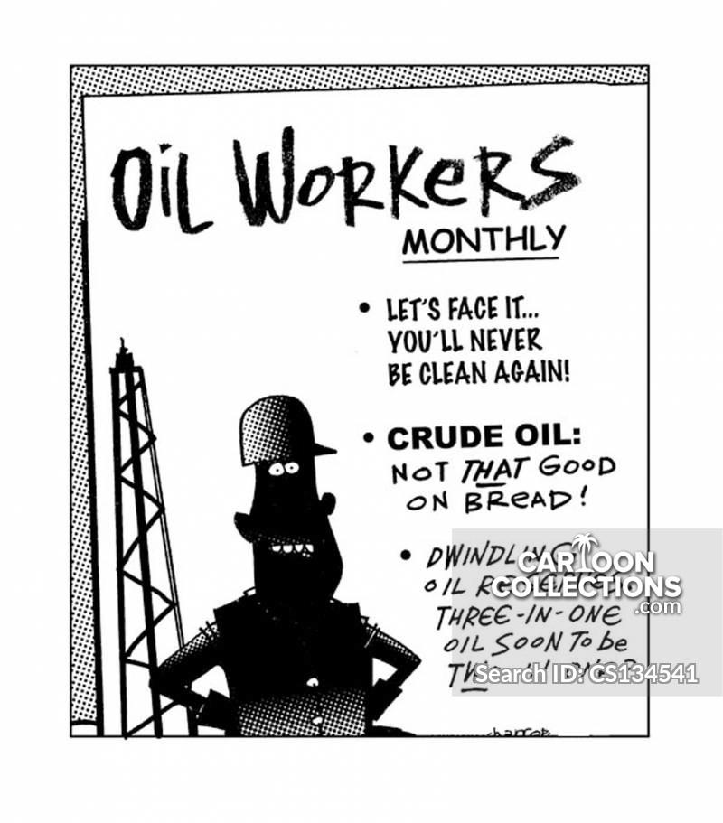 oil worker cartoon