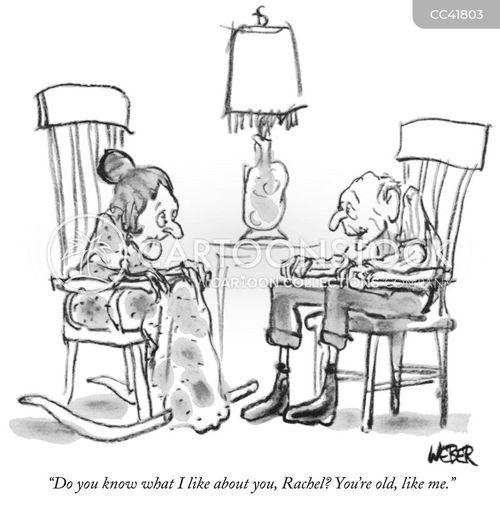 retiree cartoon