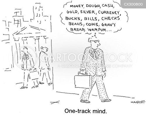 one track mind cartoon