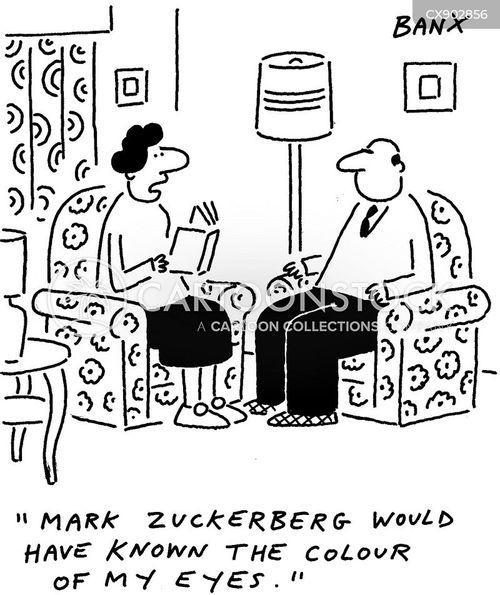 online profile cartoon