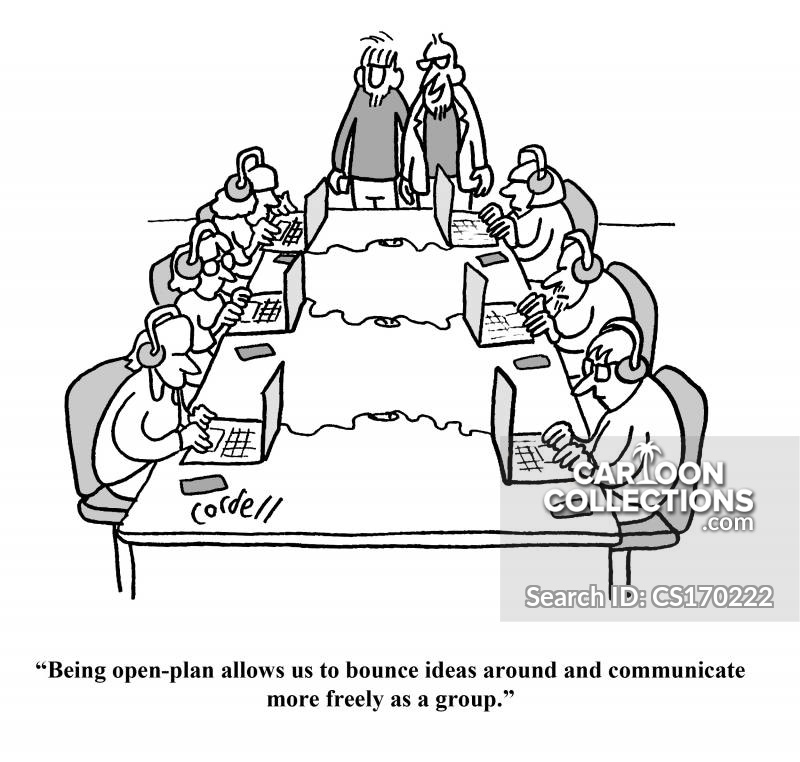group thinking cartoon