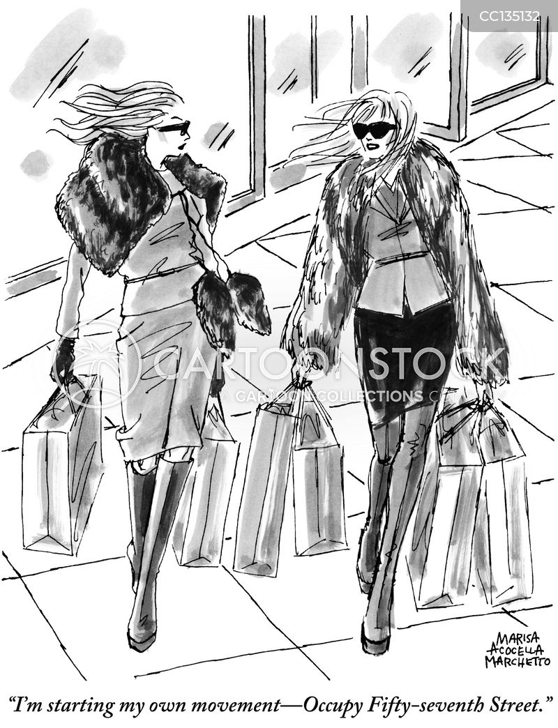shopper cartoon