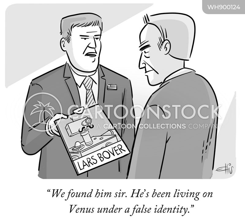 false identities cartoon