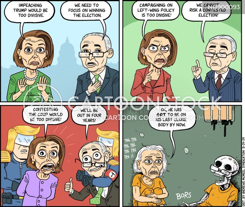 opposition cartoon