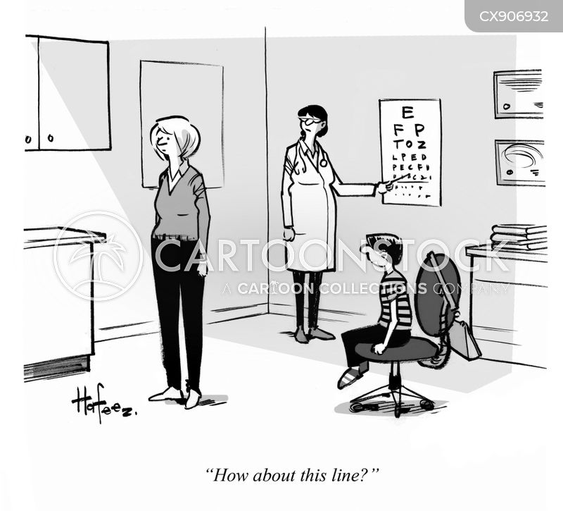 vision tests cartoon