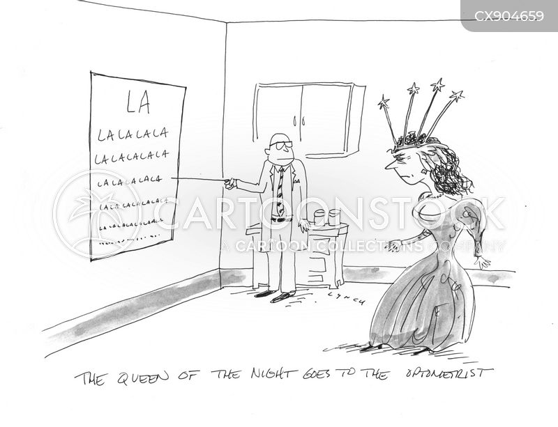 eye chart cartoon