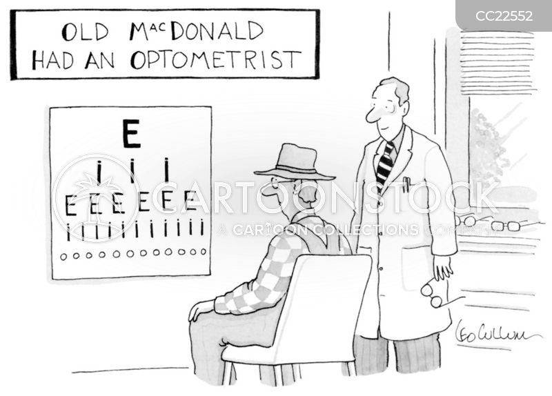 sight tests cartoon
