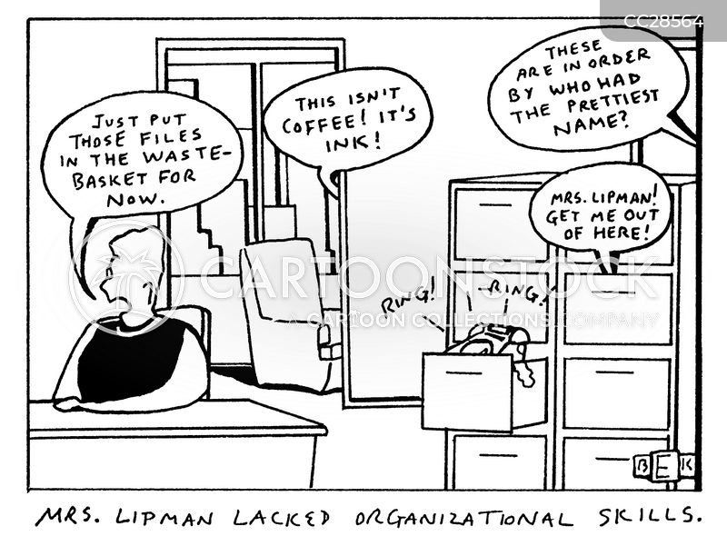 organisational skill cartoon