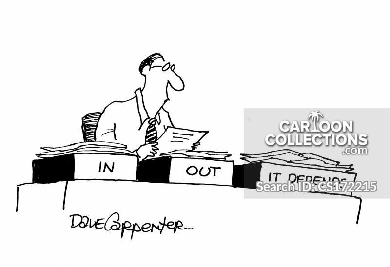 it depends cartoon
