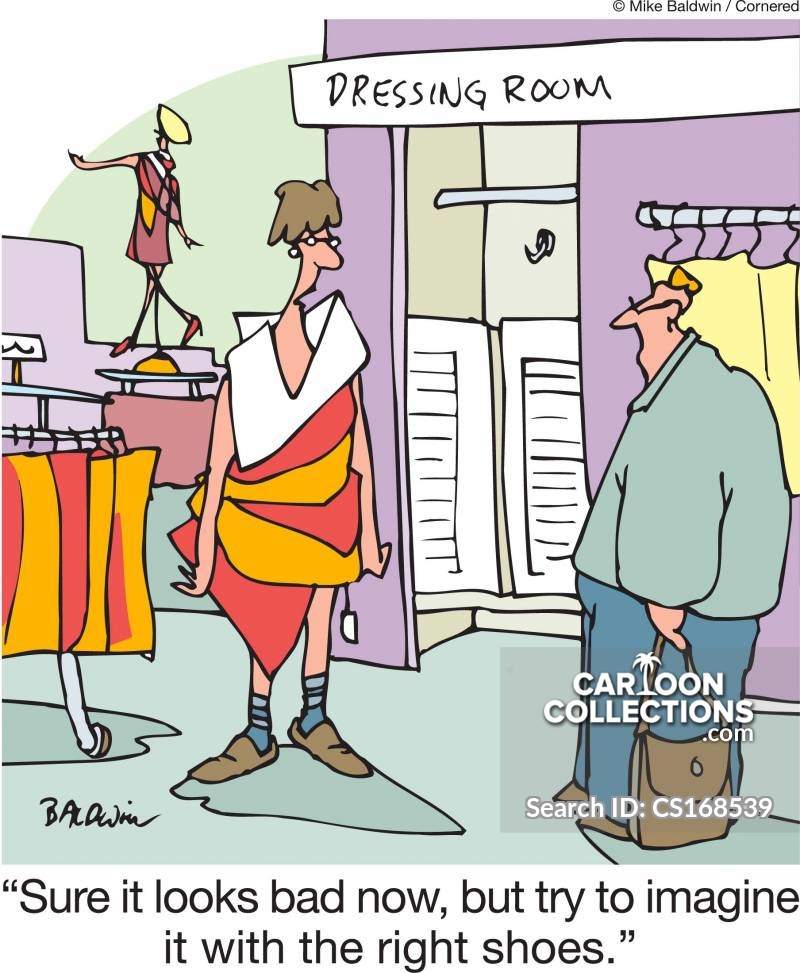 Clothes Retailer cartoon