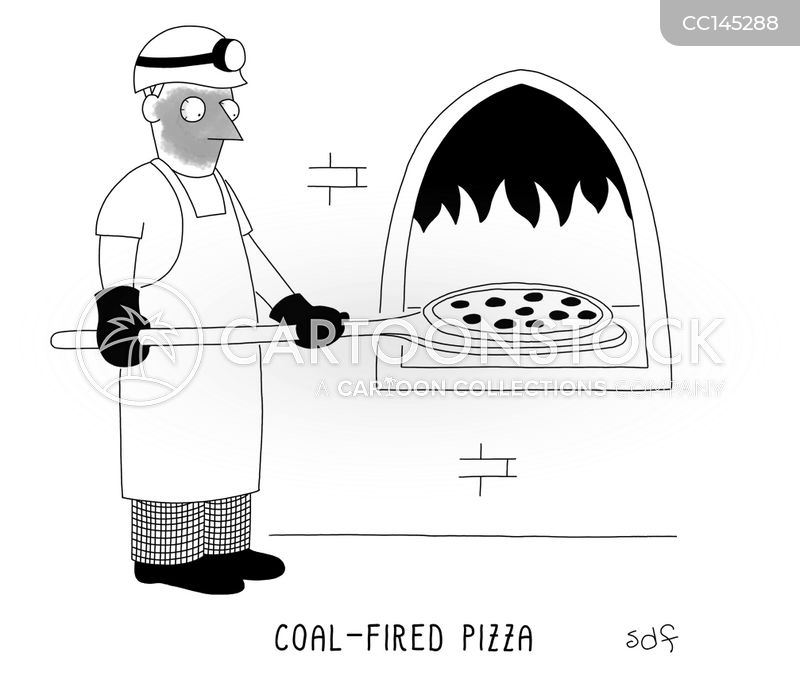 wood-fired pizzas cartoon