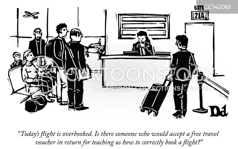 overbooking cartoon